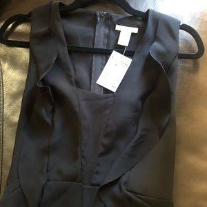 Elegant long pants black  romper